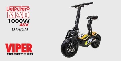 Velocifero Mad 1000W 48V Direct Drive Lithium Electric Scooter (No 78)