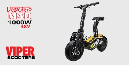 Velocifero Mad 1000W 48V Direct Drive Lead Acid Electric Scooter (No 78)