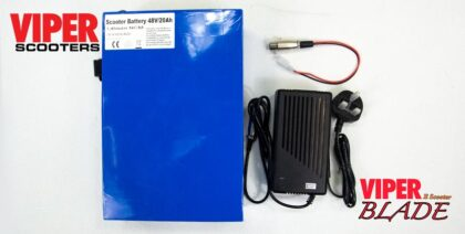 Electric Scooter 48V 20AH Lithium Battery & Charger Viper Blade 1000W & 1600W